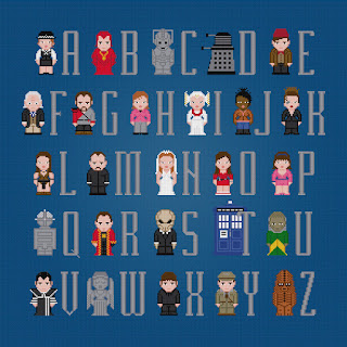 Doctor Who Alphabet 2 - Cross Stitch PDF Pattern Download