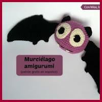 Mini murciélago amigurumi