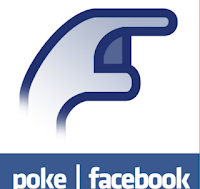 Where do you find the poke button on Facebook?