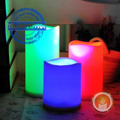Đèn led hình trụ điều khiển từ xa nhiều màu như ý