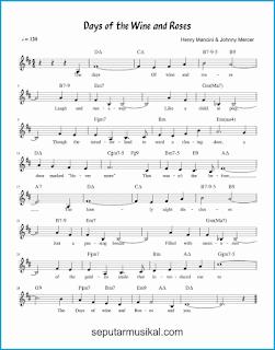 chord days of wine and roses lagu jazz standar