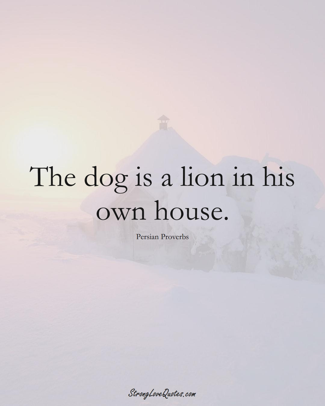The dog is a lion in his own house. (Persian Sayings);  #aVarietyofCulturesSayings