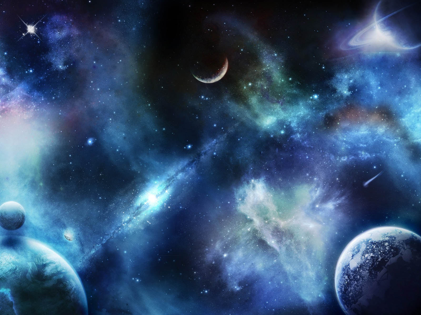 real planets and stars background - photo #8