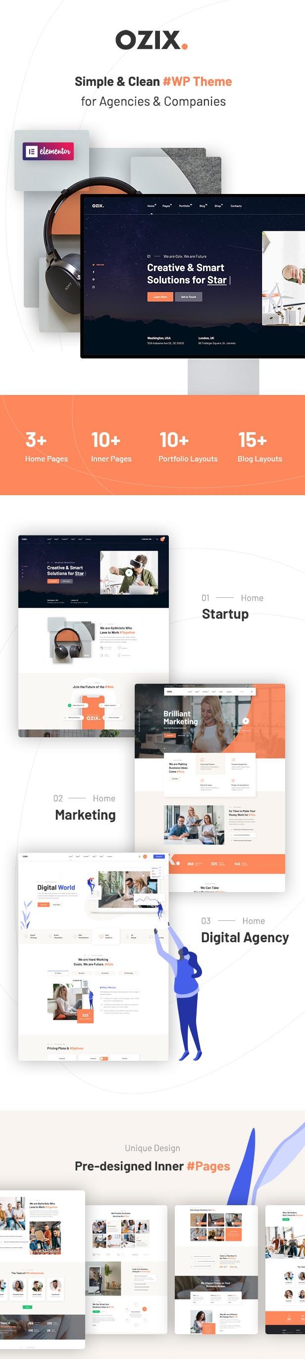 Agencies and Companies WordPress Theme