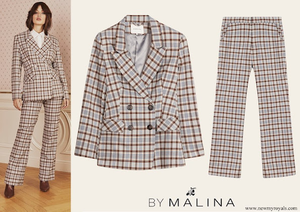 Crown Princess Victoria wore By Malina Karah checker print blazer and Rosetta trousers