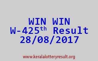 WIN WIN Lottery W 425 Results 28-8-2017