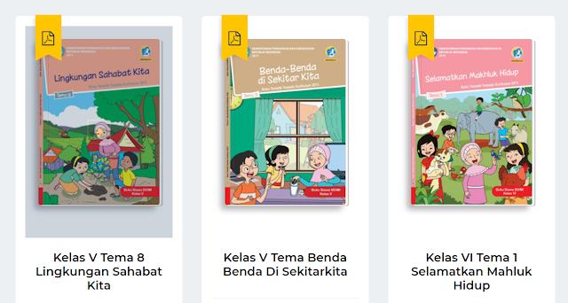 Buku Paket SD/MI Kelas 1, 2, 3,  4, 5, dan 6 Lengkap