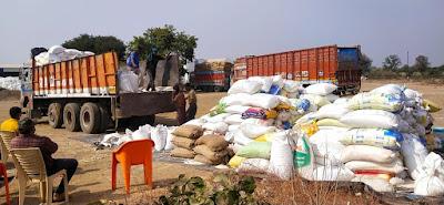 आर्णी पोलीसांनी पकडला २४० क्विंटल तांदूळ