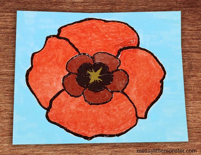 Georgia O Keeffe Poppy Craft
