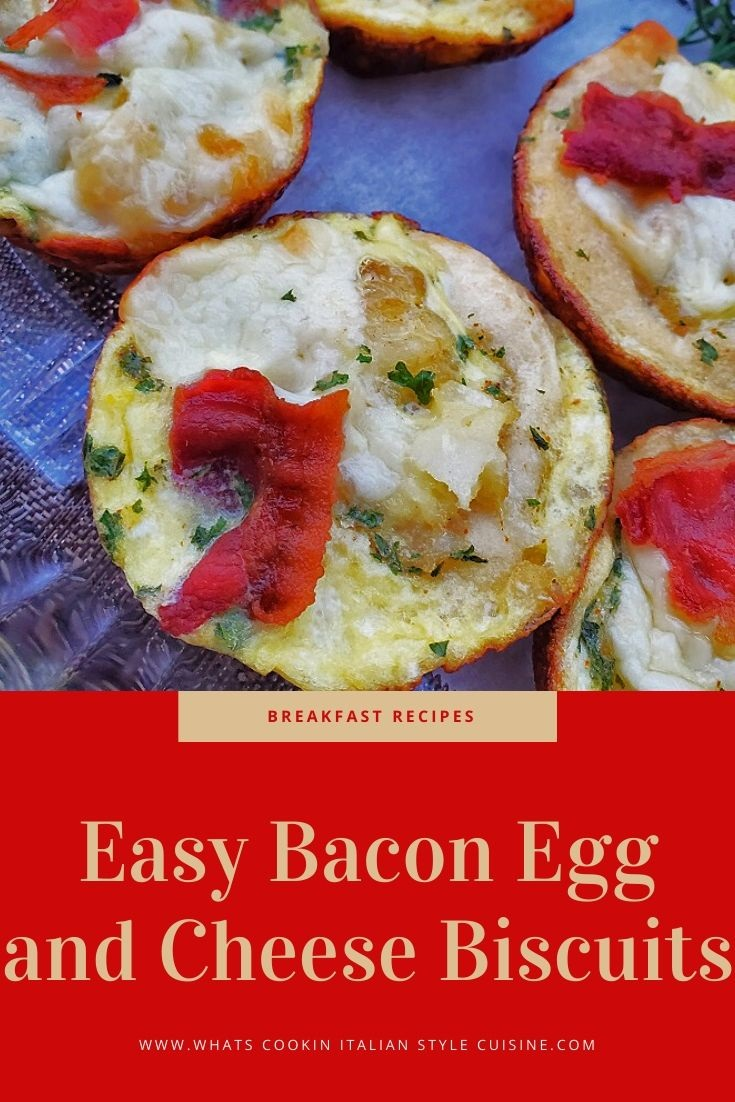 this is a pin for later bacon egg and cheese biscuit recipe