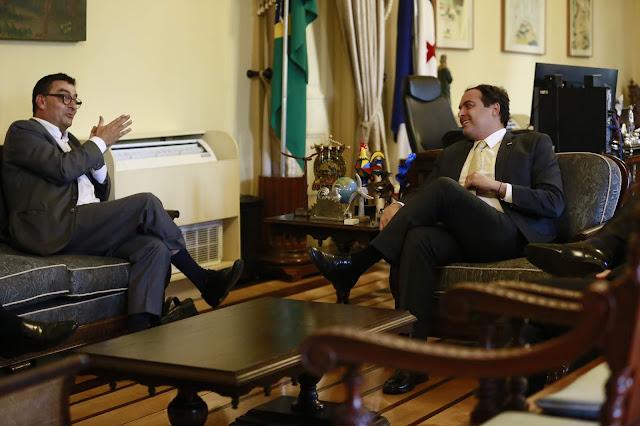 Paulo Câmara recebe embaixador da Suíça, Andrea Semadeni