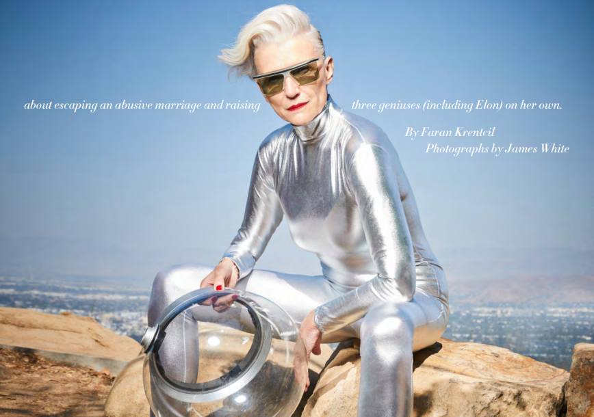 Maye Musk flies solo. In her new book, the model opens up
