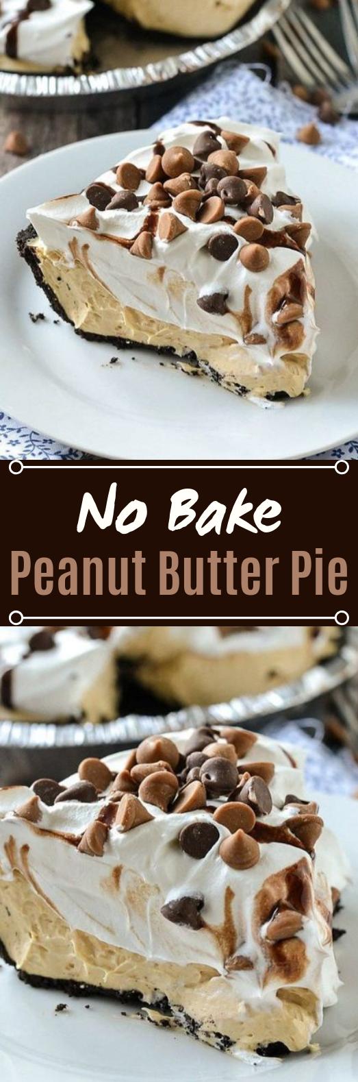 No-Bake Peanut Butter Pie #nobake #desserts
