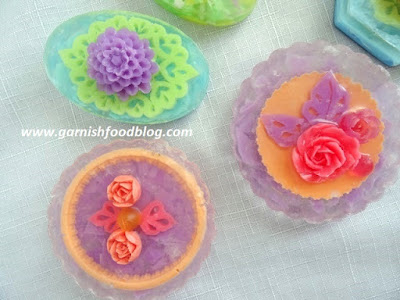soap flowers carving