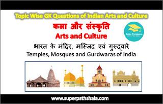 भारत के मंदिर, मस्जिद एवं गुरूद्वारे GK Questions Set 4
