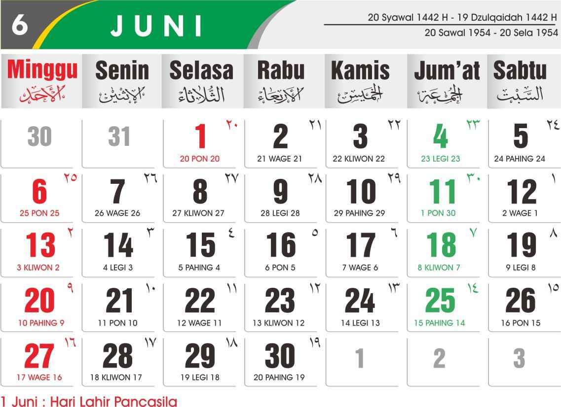 Download Kalender 2021 Lengkap dan Gratis - Kangtutorial.com