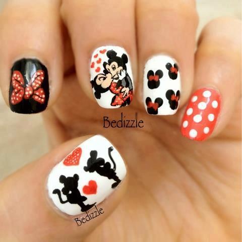 20 Diseños De Uñas De Minnie Y Micky Mouse ε Diseños De Uñas