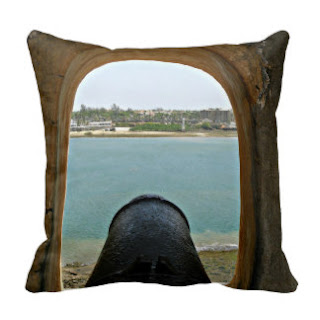 Fort Jesus, Mombasa, Kenya throw pillow
