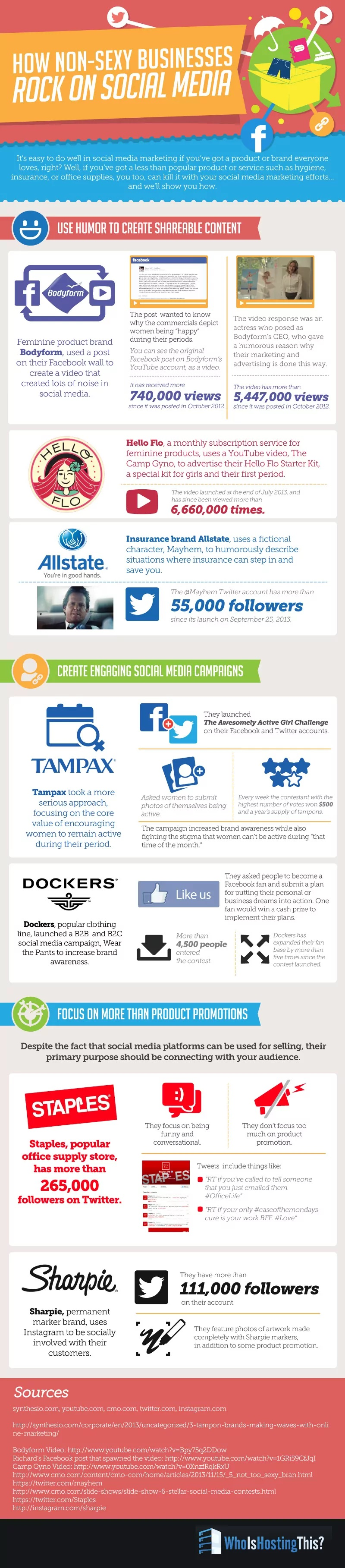 How Non-Sexy Businesses Rock on Social Media #infographic #Business #Social Media #Non-Sexy Business #Non-Sexy
