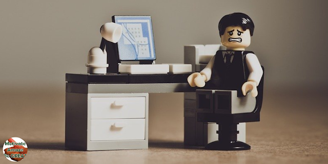 "Lego character with creativity problems. Featured in the article: ""25 Ways On How To Stop Overthinking ""."