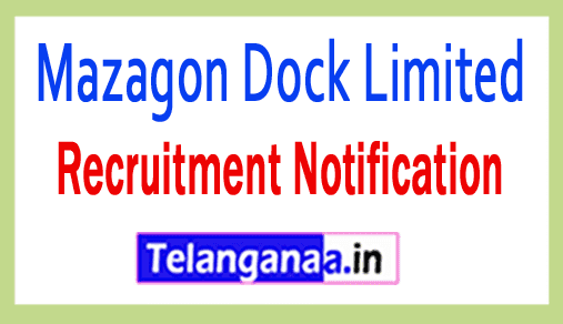 Mazagon Dock Limited MDL Recruitment Notification