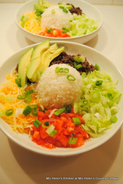 Basic Tex-Mex Taco Bowls at Miz Helen's Country Cottage