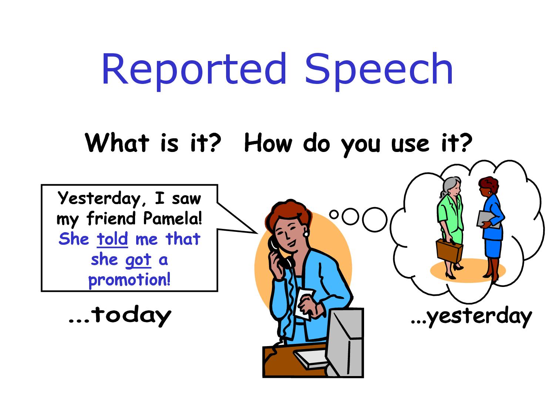 English In Jerez B1 Grammar Reported Speech