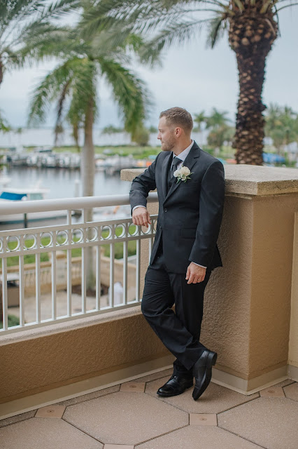 The groom before the wedding