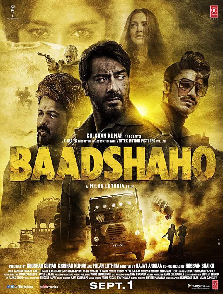 Baadshaho 2017 Hindi 480p 350MB HDRip