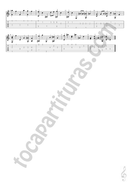 2 Con Moto Partitura de Guitarra con Tablaturas en Números y dedos de Daniel Purcell Easy Tablature Sheet Music with fingerings for Guitar Beginners