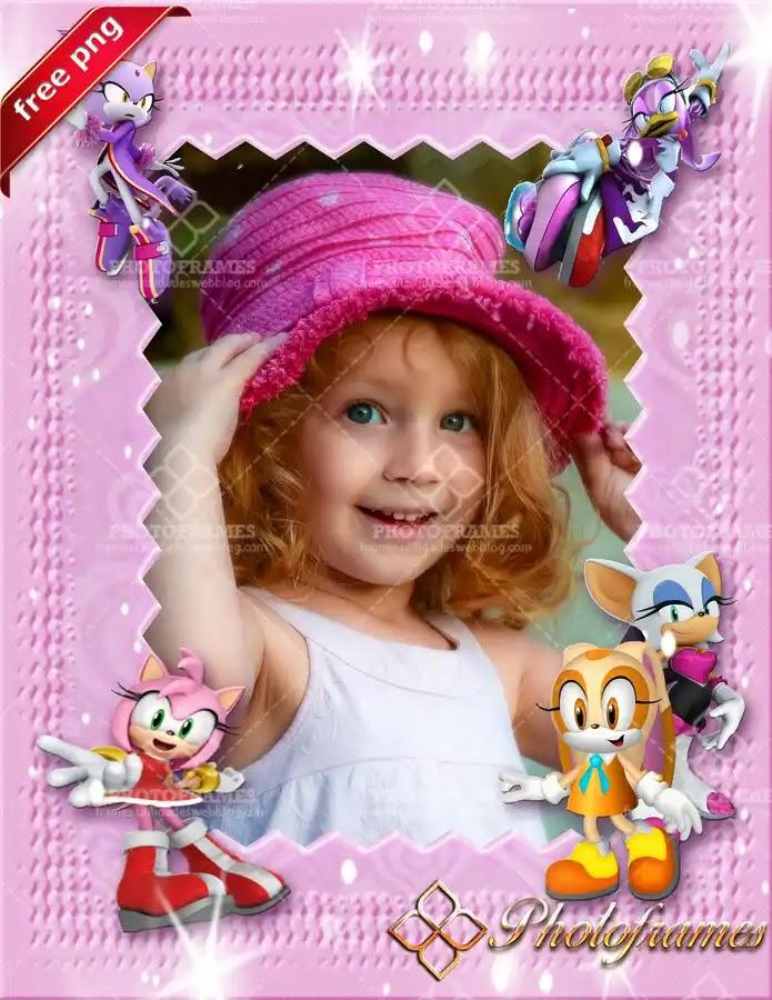 marco para fotos infantiles de los personajes de sonic el puercoespin