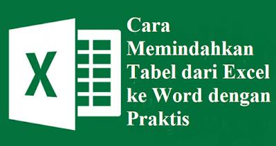 Cara Memindahkan Tabel dari Excel ke Word dengan Praktis