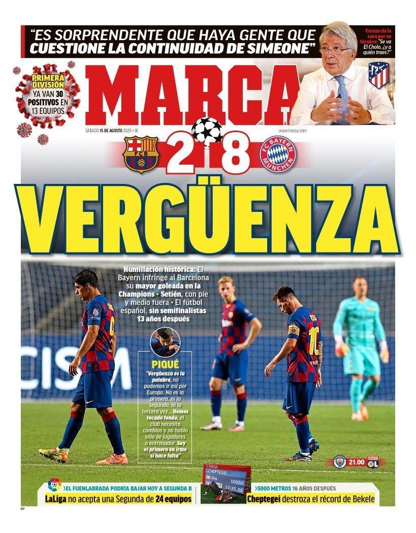 """صحيفة """" ماركا """" الإسبانية"""