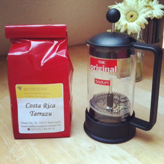 kaffee machen mit french press