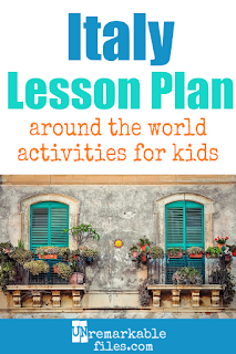 Building the perfect Italy lesson plan for your students? Are you doing an around-the-world unit in your K-12 social studies classroom? Try these free and fun Italy activities, crafts, books, and free printables for teachers and educators! #Italy #Italian #lessonplan