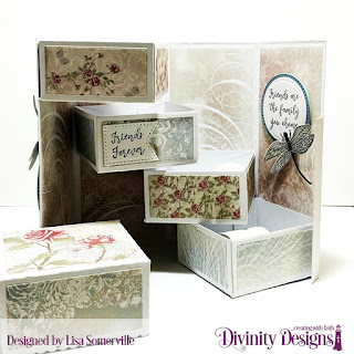 Stamp/Die Duos: Friend to Friend, Custom Dies: Treat Tower, Circles, Pierced Circles, Large Banners, Paper Collections: Shabby Rose, Shabby Pastels