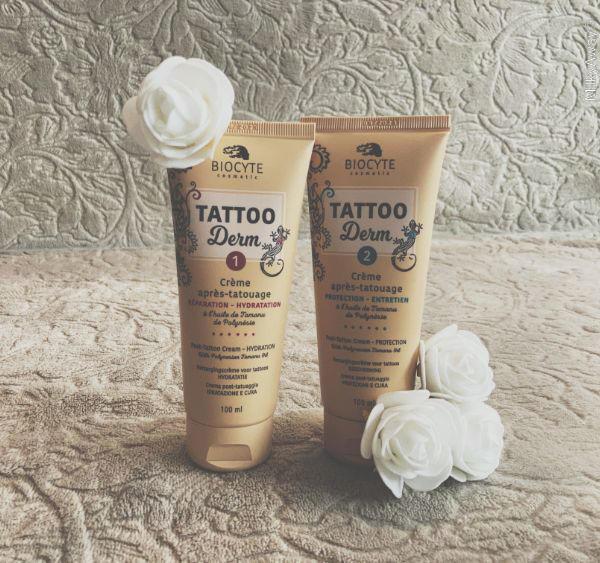 Crèmes soin tatouages de la gamme Tattoo Derm de Biocyte Cosmetic