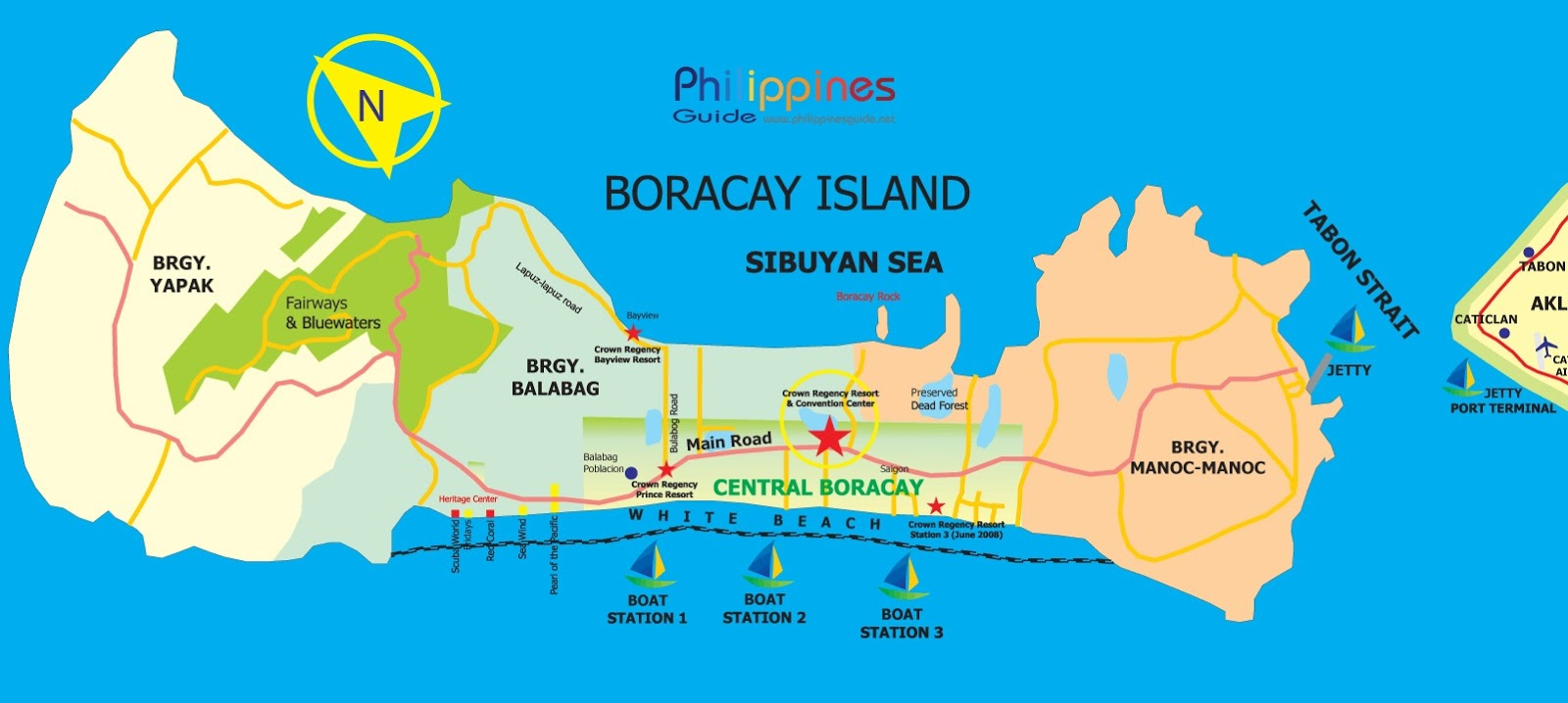 Boracay Island In The Philippines Map