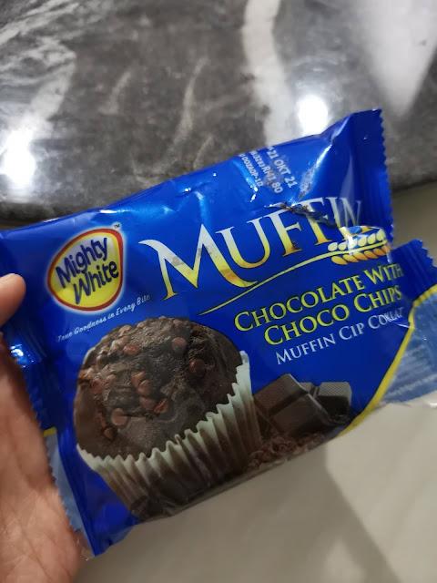 Roti Muffin Mighty White Coklat