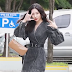 Sunmi is happily jumping on her way to work!