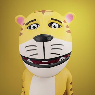 Karakter Om Pong pada animasi 3D musik dan lagu anak Indonesia Hoala dan Koala