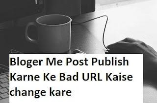 Bloger Me Post Publish Karne Ke Bad URL Kaise change kare