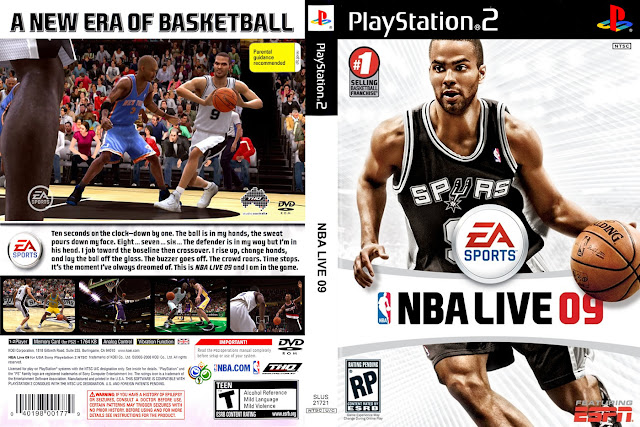 Descargar NBA Live 09 ps2 iso NTSC-PAL: Es un videojuego de baloncesto desarrollado por la compañía EA Sports para las plataformas Playstation 2, Xbox 360 y Playstation 3. Fue lanzado en marzo en Europa y Australia y en octubre de 2008 en los Estados Unidos y Japón.