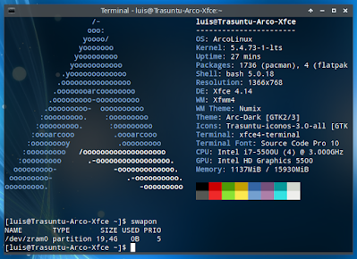 Swapon Archlinux