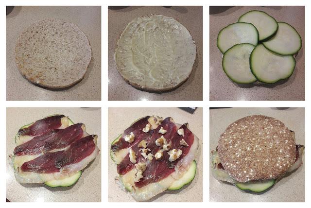 Receta de sandwich de jamón de pato y calabacín 02