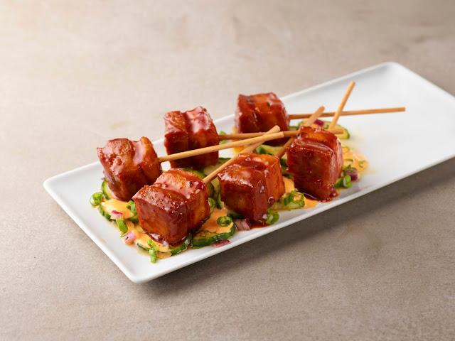 Korean BBQ Pork Belly Pops from Smokey Bones