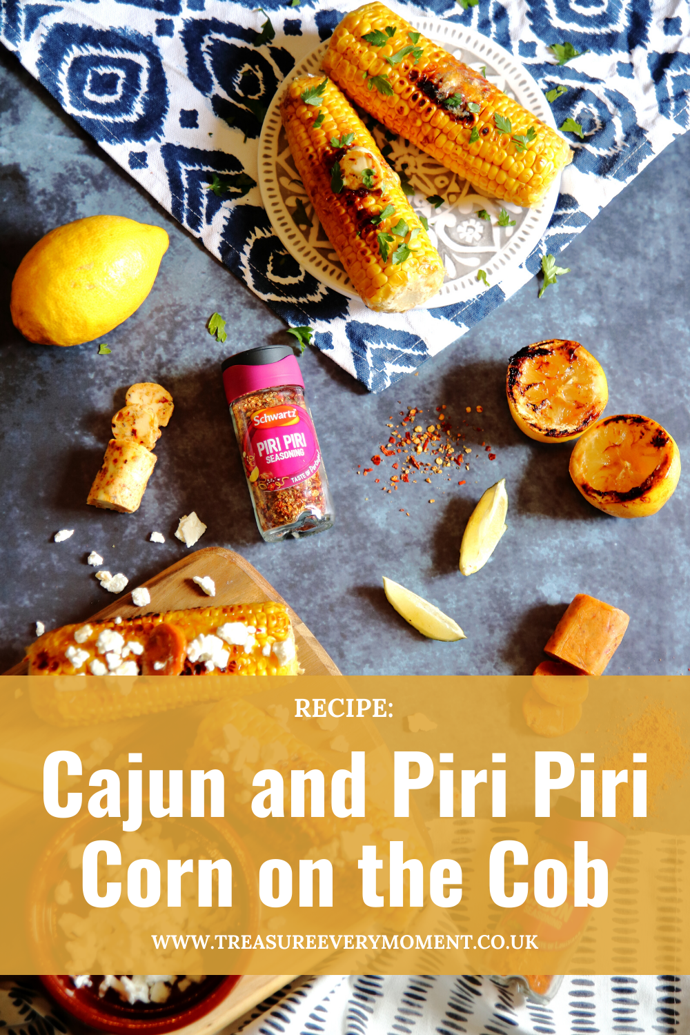 BBQ RECIPE: Cajun and Piri Piri Corn on the Cob