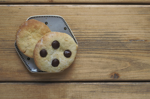 Orange ricotta cookies with chocolate chips