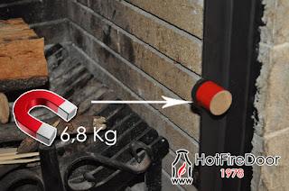 Utilizando un iman ferroso, ya que los de neodimio perecen frente altas temperaturas