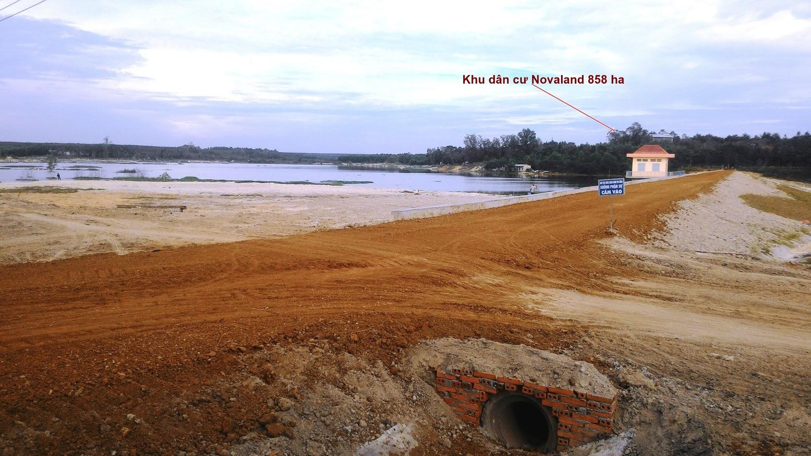 Hồ sinh thái Lộc An Long Thành Đồng Nai 70ha đang xây dựng